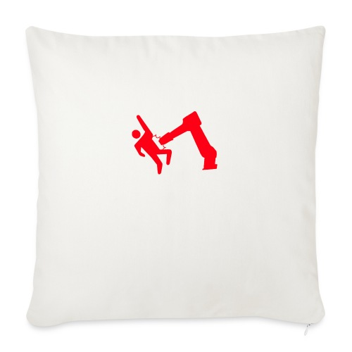"Robot Wins - Throw Pillow Cover 18"" x 18"""