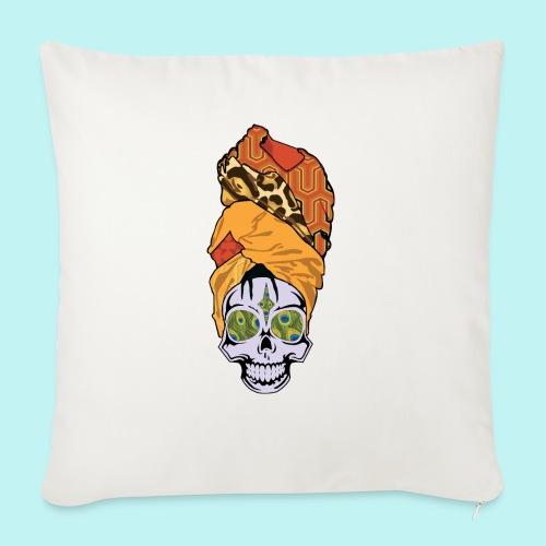 "ERYKAH BADU SKULLY - Throw Pillow Cover 17.5"" x 17.5"""