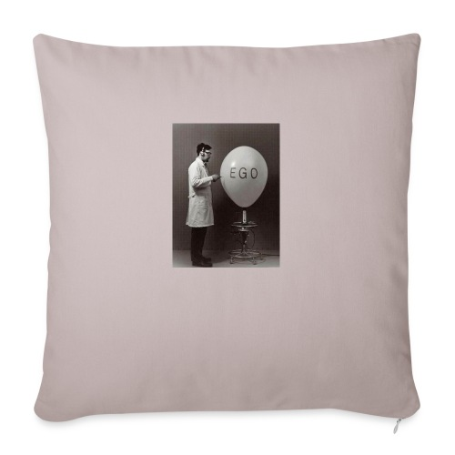 "Ego - Throw Pillow Cover 18"" x 18"""