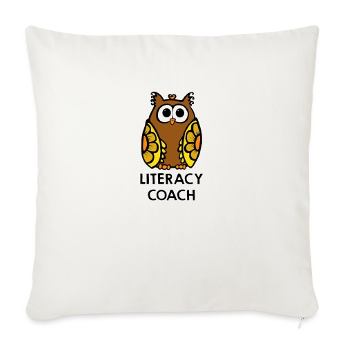 """literacy coach png - Throw Pillow Cover 18"""" x 18"""""""