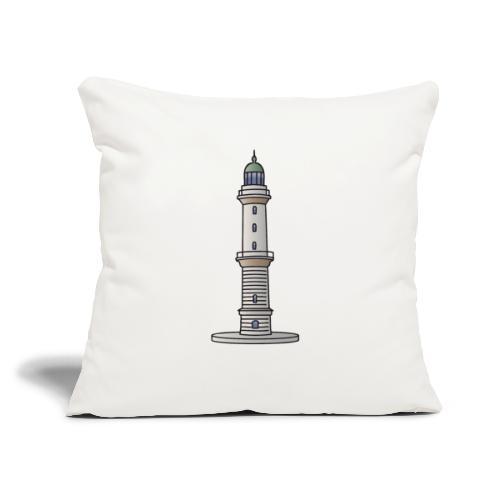 "Lighthouse Warnemünde Rostock - Throw Pillow Cover 17.5"" x 17.5"""