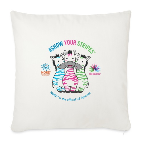 "Rare Disease Day #Show Your Stripes - Throw Pillow Cover 17.5"" x 17.5"""
