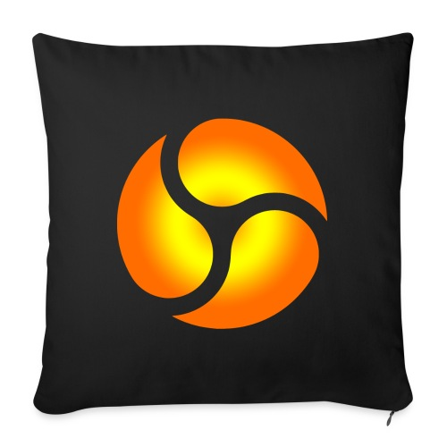 "triskele harmony - Throw Pillow Cover 18"" x 18"""