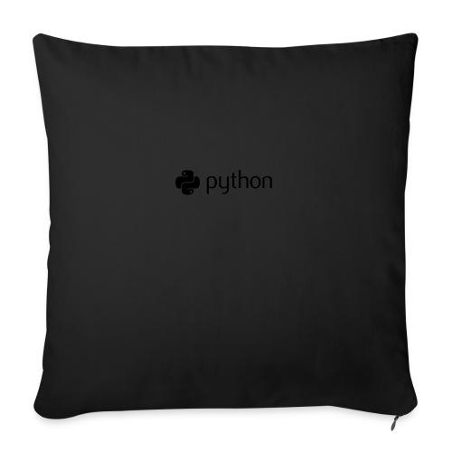 "python logo - Throw Pillow Cover 18"" x 18"""