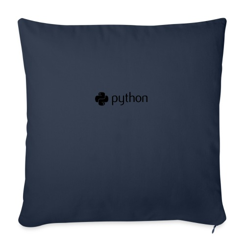 "python logo - Throw Pillow Cover 18"" x 18"""