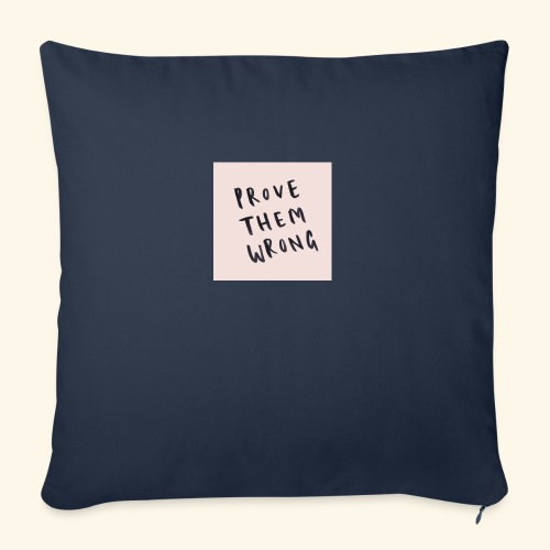 "show em what you about - Throw Pillow Cover 18"" x 18"""