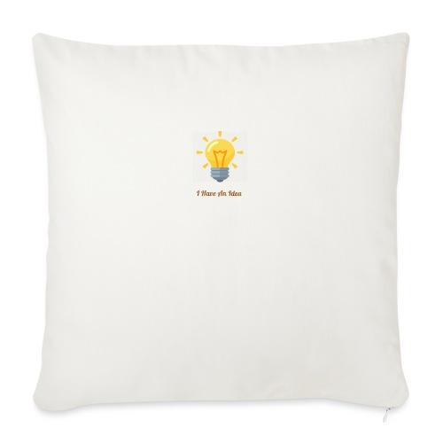 """Idea Bulb - Throw Pillow Cover 17.5"""" x 17.5"""""""