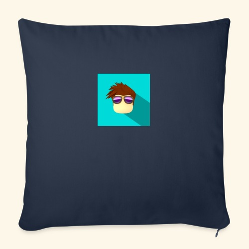"NixVidz Youtube logo - Throw Pillow Cover 18"" x 18"""