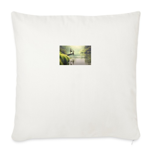 """fishing - Throw Pillow Cover 18"""" x 18"""""""