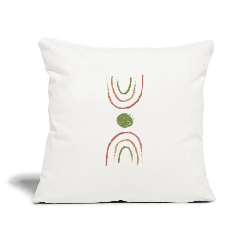 "boho double rainbow - Throw Pillow Cover 17.5"" x 17.5"""