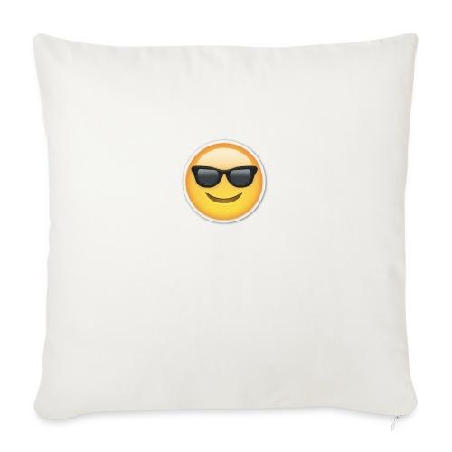 "sunglasses emojicon mug & phone case - Throw Pillow Cover 18"" x 18"""