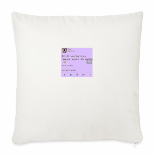 """Idc anymore - Throw Pillow Cover 18"""" x 18"""""""