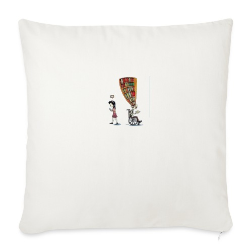 """Less mobile more books - Throw Pillow Cover 18"""" x 18"""""""