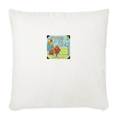 """kicked in the dick - Throw Pillow Cover 18"""" x 18"""""""