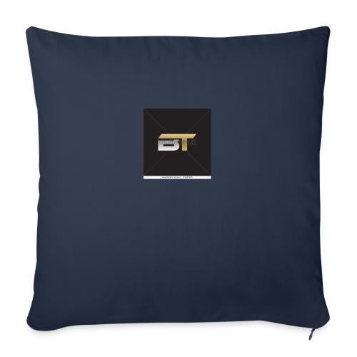 """BT logo golden - Throw Pillow Cover 18"""" x 18"""""""