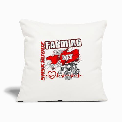 "saskhoodz farming - Throw Pillow Cover 17.5"" x 17.5"""