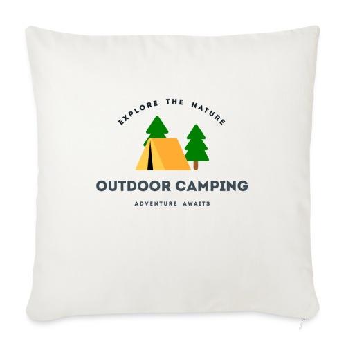 "Outdoor Camping Adventure awaits T-shirt - Throw Pillow Cover 17.5"" x 17.5"""