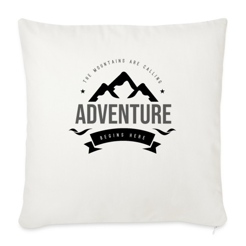 """The mountains are calling T-shirt - Throw Pillow Cover 17.5"""" x 17.5"""""""