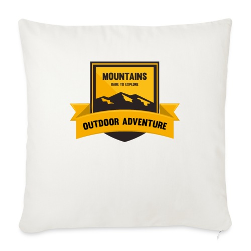 """Mountains Dare to explore T-shirt - Throw Pillow Cover 17.5"""" x 17.5"""""""