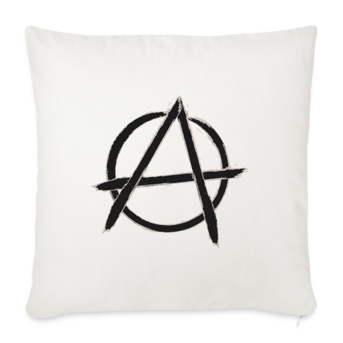 """Anarchy in black silver - Throw Pillow Cover 18"""" x 18"""""""