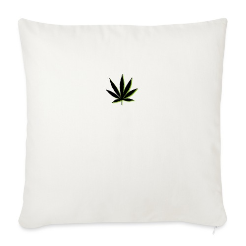 """weed symbol drawing leaf - Throw Pillow Cover 17.5"""" x 17.5"""""""