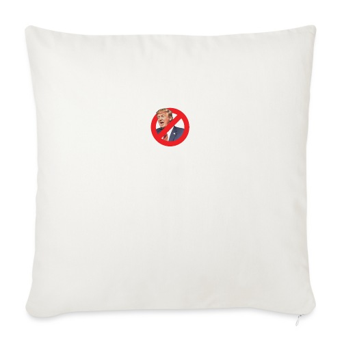 "blog stop trump - Throw Pillow Cover 18"" x 18"""