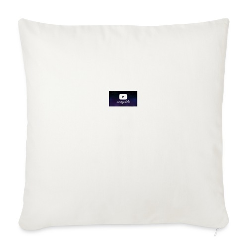 "my life is youtube poster - Throw Pillow Cover 18"" x 18"""