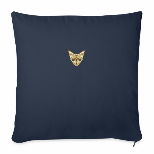 "Kitty katt - Throw Pillow Cover 18"" x 18"""