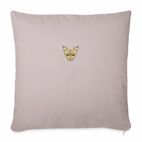 "Kitty katt - Throw Pillow Cover 18"" x 18"""