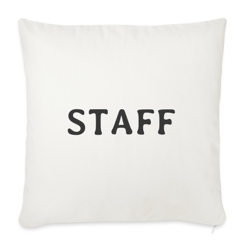 "Staff - Throw Pillow Cover 17.5"" x 17.5"""