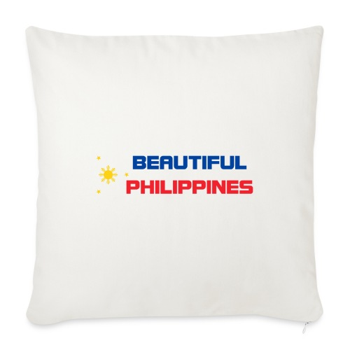 "Philippines - Throw Pillow Cover 17.5"" x 17.5"""