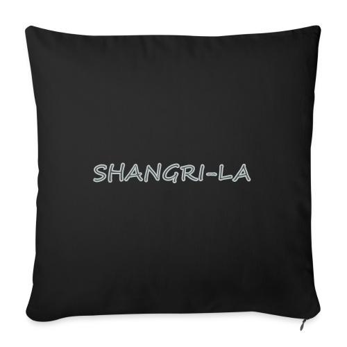 "Shangri La silver - Throw Pillow Cover 18"" x 18"""