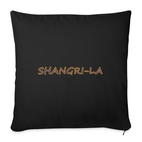 "Shangri La gold blue - Throw Pillow Cover 18"" x 18"""