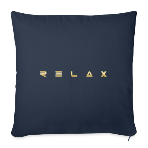 """Relax gold - Throw Pillow Cover 18"""" x 18"""""""
