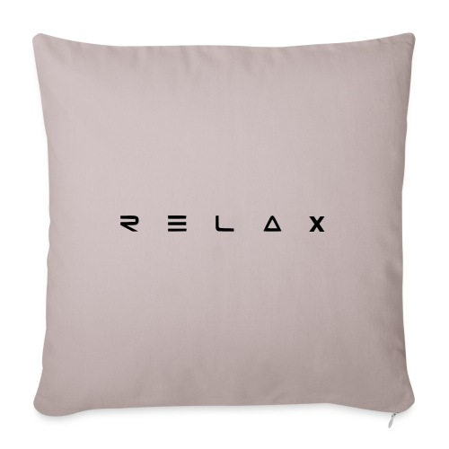 """Relax - Throw Pillow Cover 18"""" x 18"""""""