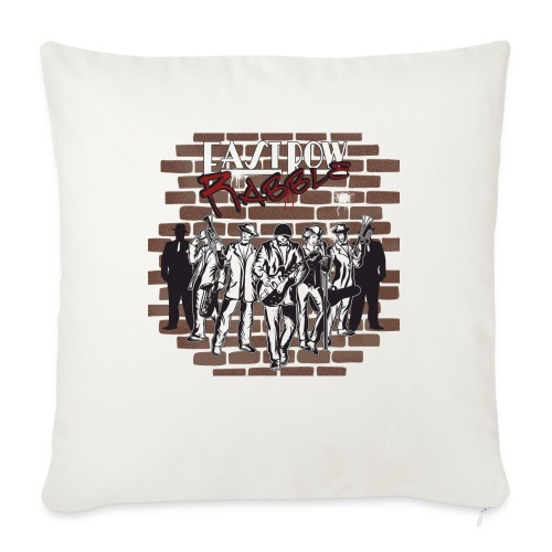 "East Row Rabble - Throw Pillow Cover 18"" x 18"""