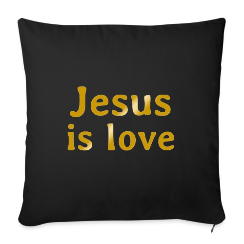 """Jesus is love - Throw Pillow Cover 18"""" x 18"""""""