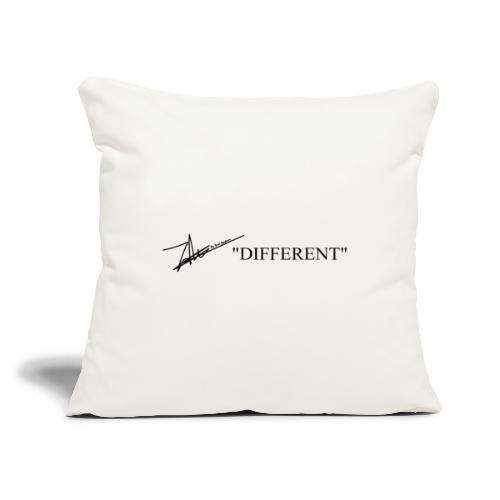 "DIFFERENT - Throw Pillow Cover 17.5"" x 17.5"""