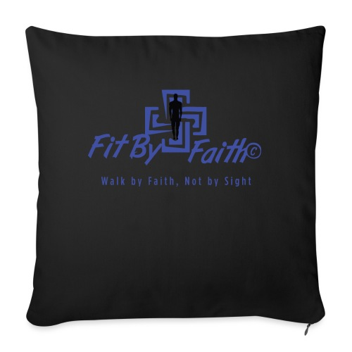 "FitbyFaith back png - Throw Pillow Cover 17.5"" x 17.5"""
