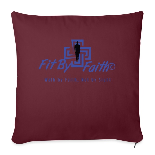 """FitbyFaith back png - Throw Pillow Cover 17.5"""" x 17.5"""""""