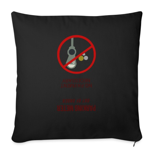"parkingmeterupsidedown.png - Throw Pillow Cover 17.5"" x 17.5"""