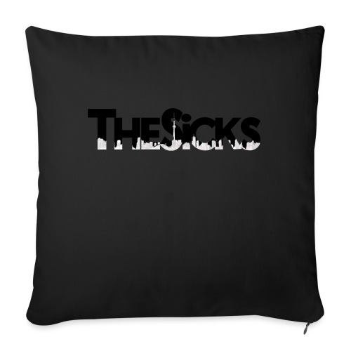 "The Sicks - logo black - Throw Pillow Cover 17.5"" x 17.5"""