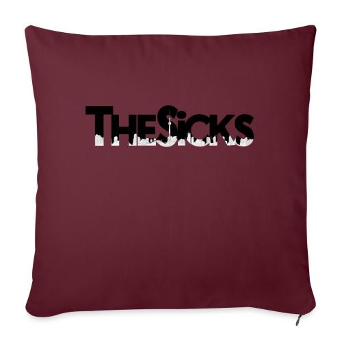 "The Sicks - logo black - Throw Pillow Cover 17.5"" x 17.5"""