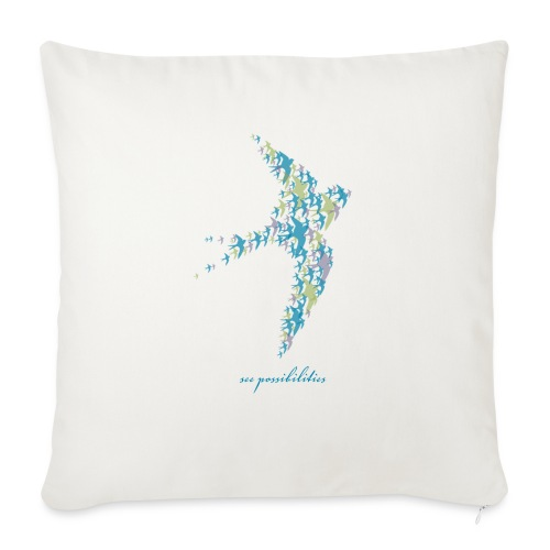 "See Possibilities - Throw Pillow Cover 18"" x 18"""