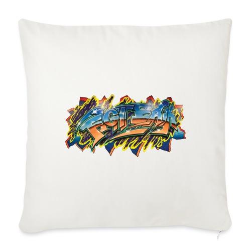 "RSB Mural T shirt w/ Black RSB Logo - Throw Pillow Cover 17.5"" x 17.5"""