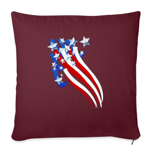 "Sweeping Old Glory - Throw Pillow Cover 18"" x 18"""