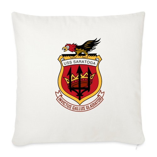 "USS Saratoga CV60 - Throw Pillow Cover 18"" x 18"""