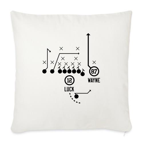"X O Andrew Luck to Reggie Wayne - Throw Pillow Cover 18"" x 18"""