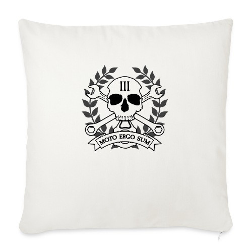 "Moto Ergo Sum - Throw Pillow Cover 17.5"" x 17.5"""
