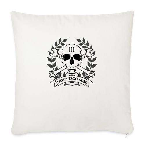 """Moto Ergo Sum - Throw Pillow Cover 18"""" x 18"""""""